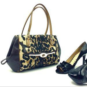 Coach Madison Ocelot Handbag